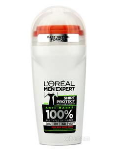 L'Oreal欧莱雅清爽香薰止汗滚珠 50ml/1.7ozMen Expert Shirt Protect Refreshing Kick Fragrance Roll On