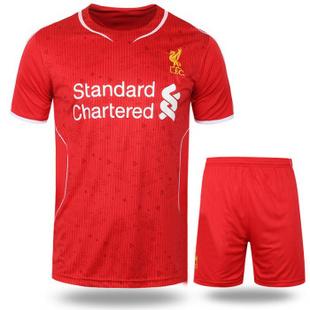 14-15利物浦足球运动服足球训练服足球服套装 红色 XL