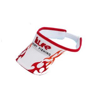 男式防晒太阳帽 休闲钓鱼帽防晒运动 火焰款图案 红色