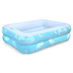 澳乐婴儿游泳池 加厚充气游泳池家庭玩具环保温爱系列方形2环