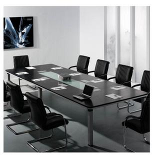 环澳办公家具 会议桌椅组合简约 现代 条形桌洽谈桌大班桌 办公桌小型开会 GS5029榉木 款式三 配套网布椅