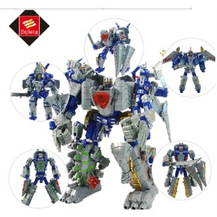 锦江变形玩具星空救援队电影4系列儿童机器人金刚4恐龙模型五合一