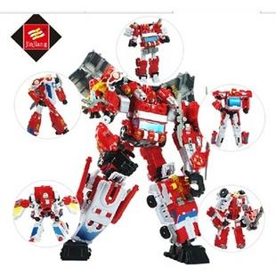 锦江玩具 变形模型战神金刚 儿童玩具守护神星空救援队天火消防车