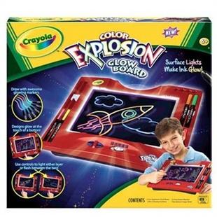 美国绘儿乐Crayola 官网专卖 神奇神彩荧光绘画板礼盒套装74-7014