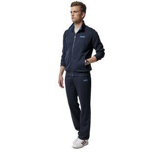波克运动裤套装秋冬加绒加厚保暖长袖长裤子男士运动服跑步服5363 深灰色5363 4XL
