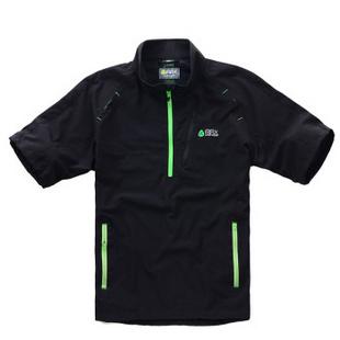 RAX 夏款户外速干衣 男女款短袖透气吸湿抗紫外线骑行服 31-1K006 黑色 S