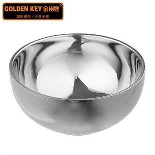金钥匙日式不锈钢皇宝碗 不锈钢碗 双层碗 隔热碗 加厚