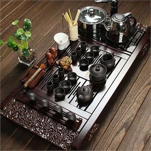 尚帝 柯木祥云-紫砂陶瓷茶具电磁炉套装140506-061DYPG