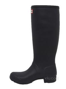 【2015新款】Hunter 女士灰色圆头高筒休闲雨靴(香港直发)