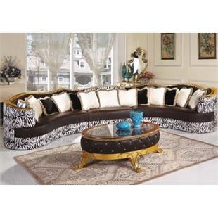 阿西娜欧式古典沙发 整体实木家具 古典沙发椅 创意沙发 时尚沙发 娱乐会所转角沙发茶几组合