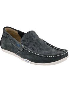 Clarks 其乐 男士蓝色真皮网眼休闲鞋