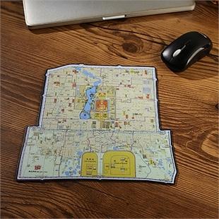 老北京城地图鼠标垫 创意鼠标垫