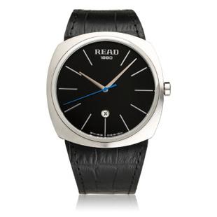 锐力(READ)表休闲时尚男士手表时尚石英表皮带R6009 黑面黑色皮带