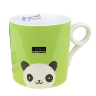 昭乐 九字型杯 无盖儿童卡通动物陶瓷杯子/时尚可爱水杯/家庭套装马克杯 小熊猫