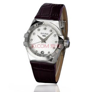 锐力(READ)手表 女士手表时尚石英真皮女表R6030L 白罗马紫带