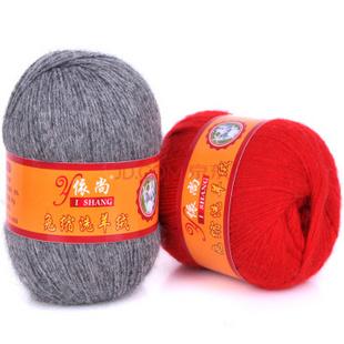 依尚21s/3免缩洗羊绒线 手编机织均可 抗起球 贴身穿 深灰