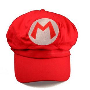 卡通帽子鸭舌帽红色