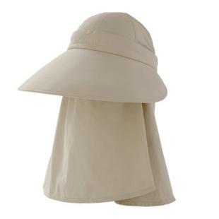 台湾UV100防紫外线防晒户外男女遮阳帽钓鱼帽五种戴法12123 卡其色绳扣