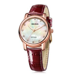 锐力(READ)手表 普罗旺斯系列石英女表R6032 玫瑰金白面紫色皮带