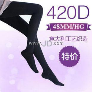 内慧 420D加厚连裤静脉曲张瘦腿袜 黑色 M
