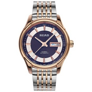 锐力(READ)手表 传奇系列全自动机械男表玫黑盘钢带R8082G
