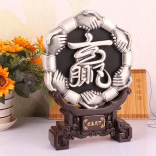 爱礼布礼 共赢天下 炭雕摆件 外事出国礼品 家居装饰必备 送长辈 送领导的礼物
