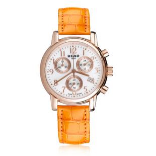 锐力(READ)手表 达芬奇系列石英女表R7003L 玫瑰金橙皮
