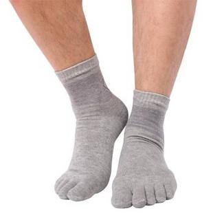 原字弹男袜子 棉男士五指袜深色5双装Y7089