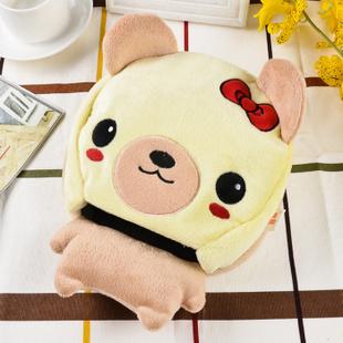 皇雅蒙娜丽莎 暖手宝鼠标垫暖手电热宝带护腕可拆洗usb暖手鼠标垫 美女小熊