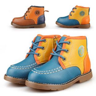 爱迪生2014秋冬新款儿童时尚靴子 蓝色 26