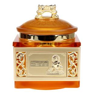 爱礼布礼 和谐发展同赢一诺千金 古法琉璃四方茶叶罐 商务礼品送礼佳品 家居摆件