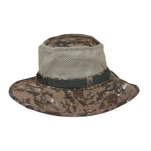 依吉饰 秋冬季透气网眼迷彩钓鱼帽 男士户外遮阳帽子 盆帽渔夫帽 土黄色 其他