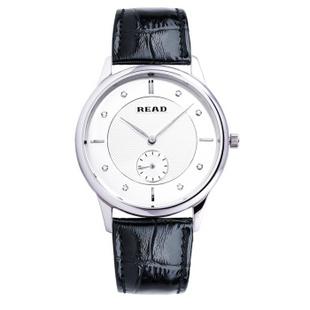 锐力(READ)手表 海洋之心系列情侣表石英女R6025L 白面银框黑带男表