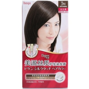 美源丝质护发染发膏3N(自然棕黑色)新老包装随机发放