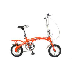 凤凰自行车 超小12寸迷你折叠车 晴空 红