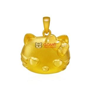 多边金都 黄金足金 可爱猫吊坠 3D硬金(3.52g)