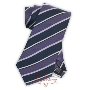 领带 雅致深紫