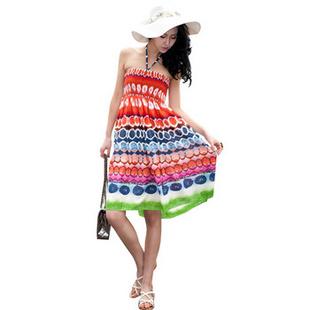 款波西米亚半裙抹胸裙图片