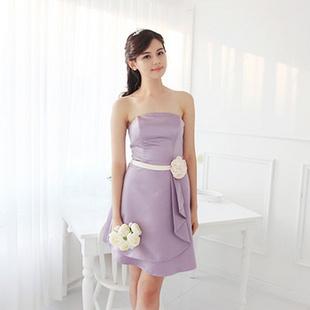 laurelmary岚慕2013新款韩版修身抹胸浪漫紫色舞会小礼服 如图颜色及图片