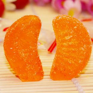 嘉士伯 吉利软糖 蜜桔味软糖 橘子瓣软糖 散装 250g【正品 报价 甩卖