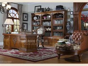 木HI1012层板书柜-HL1012翻门书柜、书台-HL1012A书椅-椅亨利