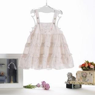 璐迪尔童装2013新款夏装女公主裙子宝宝连衣裙夏 粉红 73cm图片