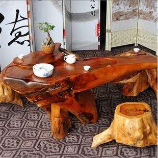 根之魂 实木根雕茶几 黄金樟整体树根茶桌 实木会客桌 精美根雕茶桌