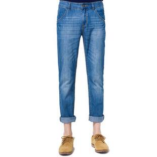 森马男装2014夏装新款韩版潮男士修身直筒薄男裤青少年男款牛仔裤男裤图片