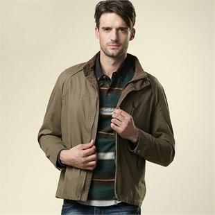 男装外套欹o#_《舒适,上档次》amcamel 骆驼男装 男士立领水洗夹克外套 新款休闲