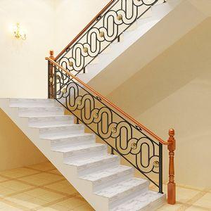 百姓园楼梯美式风格会所铁艺护栏hl001图片