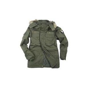 军用衣服装-户外军品服饰男装8019款101空降师可拆卸帽款M65风衣 棉服