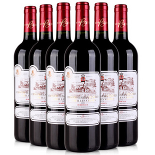 法国莫奈红葡萄酒750ml红酒