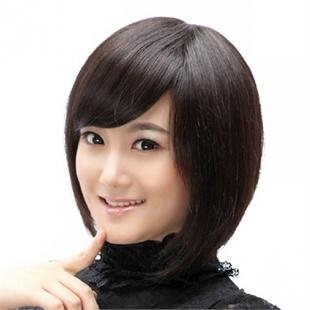 贝丽丝假发 女生短发蓬松齐短直发套女士实拍修饰脸(深棕色图片