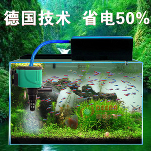 鱼缸过滤器 水族箱用品 内置增氧潜水泵 三合一静音外置桶盒 中号10w图片